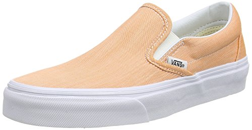 White chambray Orange Classic true coral On Chaussures Slip Vans pTzqRUw