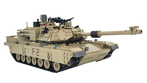 KAZI 1:28 M1A2 ABRAMS MBT Tank Model Building Kit blocks 1463+pcs Military Series