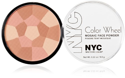 New York Color Wheel Mosaic Face Powder, Rose Glow, 0.32 Ounce - Face Wheel