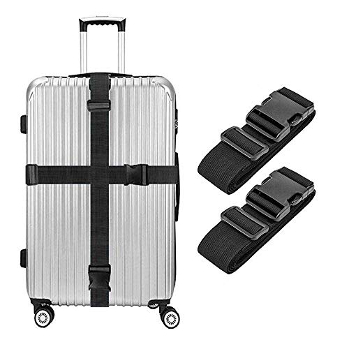 - Lcgs 2 Pack Luggage Straps, Heavy Duty Non-Slip Adjustable Travel Accessories Suitcase Baggage Belts Bag Bungee
