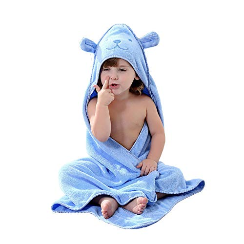 YIFAYS Baby Hooded Towels Soft Cotton Bath Set for Girls and Boys Cute Animal Face Towel Gift Set ()