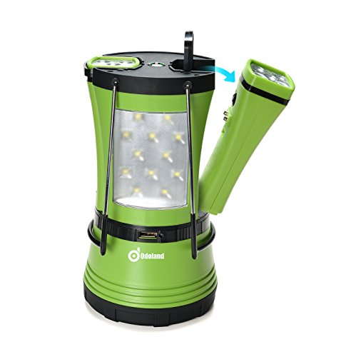 600 Lumen LED Camping Lantern with 2 Detachable Flashlights, Odoland Camping Gear Equipment for Outdoor Hiking, Camping Supplies, Emergencies, Hurricanes, Outages by Odoland
