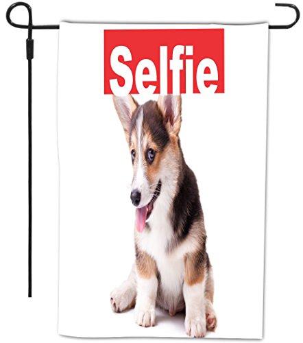 Rikki Knight Selfie Welsh Corgi Dog Design Decorative Hou...