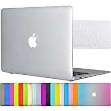 "Easygoby 2in1 Matte Frosted Silky-Smooth Soft-Touch Hard Shell Case Cover for 13-inch MacBook Air 13.3"" (Model:A1369 / A1466) + Keyboard Cover - Clear"