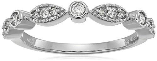 10k TW White Diamond White Ring (1/4cttw, H-I Color, I2-I...