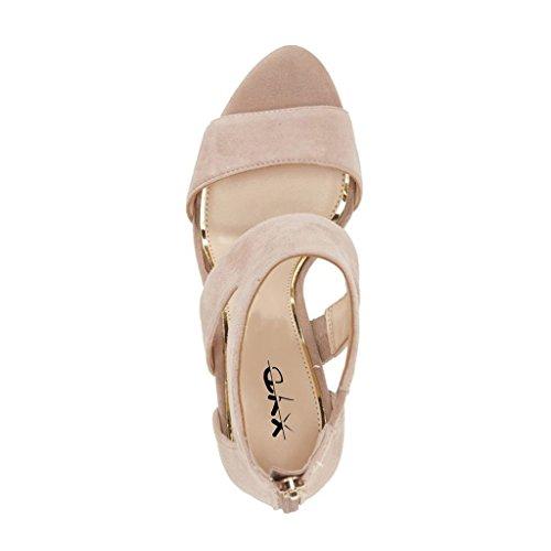 Xyd Prom Scarpe Da Ballo Eleganti Open Toe Con Cinturino Con I Sandali Con Tacco E Cinturino Alla Caviglia Per Le Donne Nude
