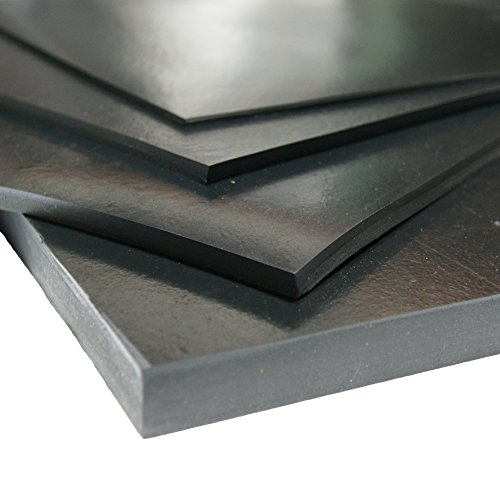 Neoprene - Commercial Grade - 60A - Rubber Sheet - 1/16'' Thick x 3ft Width x 6ft Length by Rubber-Cal