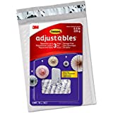 Command Adjustables Repositionable 0.5 lb Clips, 16 Clips, 36 Strips