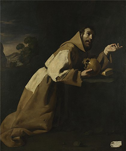 Costa Costumes Rica Native ('Francisco De Zurbarin Saint Francis In Meditation ' Oil Painting, 8 X 10 Inch / 20 X 24 Cm ,printed On High Quality Polyster Canvas ,this Best Price Art Decorative)