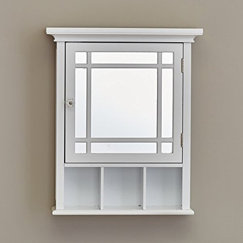 24' Surface Mount (Medicine Cabinet - Wall Mounted Bathroom Storage Organizer - Mirrored Door - 20 x 24'' (White))