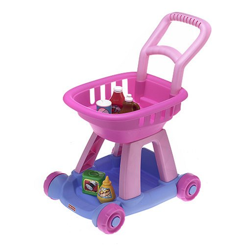 Fisher-Price Fun With Food Shopping Cart - Pink - Fisher Price Shopping Cart
