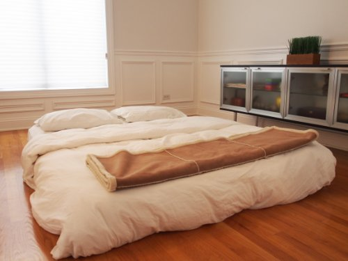 SimplySleeper SS-54Q Premium Queen Air Bed with Built-in Fully Automatic Electric Pump, Beige