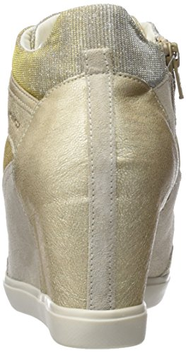 Taupe lt Eleni Geox Beige Baskets Hautes Femme lead C By0vvgqRSf