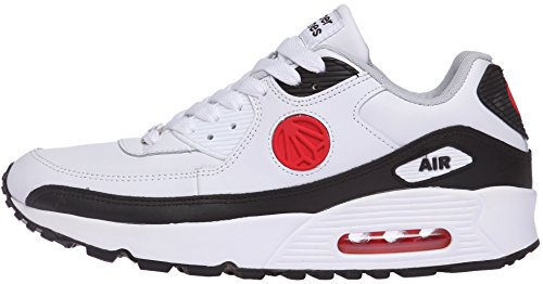 Unisex Black White Air Red Sneakers Cushion Fashion Colorful Shoes 1101 Paperplanes Trendy wqAx4P5nz