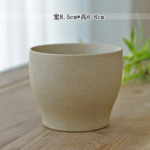 GOP Store 1Pc Solid Color Flowerpot Home Garden Succulent Plants Bonsai Tabletop Ceramic Flower Pot Home Office Garden Decor