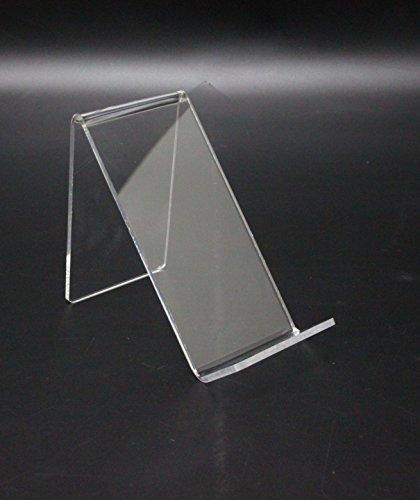 "FixtureDisplays Clear Plaxiglass Acrylic Easel Book CD DVD Smartphone Holder w/Lip - 4 1/2"" 100832"