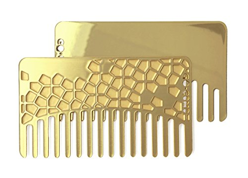 Collection Travel Wallet (Go-Comb + Mirror - Brass Tile Hair Comb + Mirror - Fit For Your Wallet)