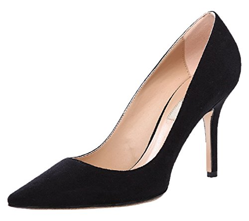 Stiletto Flanell Pumps Pointed Schwarz HooH 012 Toe Damen Z1gTTq