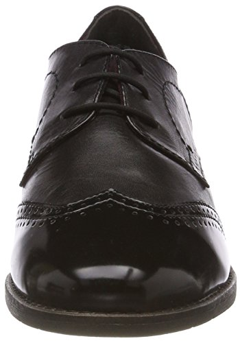 Oxford Negro 21 Tamaris Cordones para de Lea Blk 30 23202 Mujer Zapatos Brush pSXnXwH5q