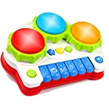 AMOSTING Musical Toys, Music Piano Keyboard Drums Learning Toy for Kids, Baby Drum Set Music Toy- Kids Educational Games