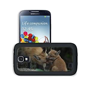 Animals Baby Foxes Tod Foxhound Samsung Galaxy S4 Snap Cover Leather Design Back Plate Case Customized Made to Order Support Ready 5 3/16 inch (132mm) x 2 13/16 inch (71mm) x 4/8 inch (12mm) MSD Galaxy_S4 Professional Leather Plastic Cases Touch Accessori