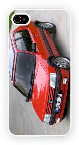 Peugeot 205 GTi Red, iPhone 4 4S, Etui de téléphone mobile - encre brillant impression