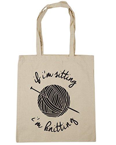 Sitting Knitting Tote Shopping 42cm Gym HippoWarehouse x38cm Beach If I'm Bag litres Natural I'm 10 EnwaIq