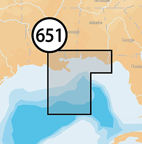 Navionics Platinum+ SD 651 Central Gulf of Mexico Nautical Chart on SD/Micro-SD Card - MSD/651P+ by Navionics