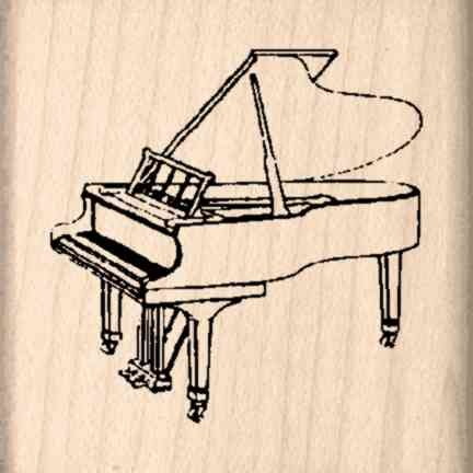 Stamps by Impression Piano Rubber Stamp