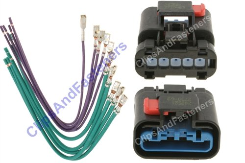 419ORo9lH2L amazon com chrysler blower resistor harness repair kit 5017124ab 2003 dodge durango blower motor resistor wiring harness at alyssarenee.co