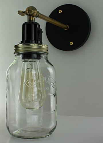 Bocal Ampoule Jar Forme En Murale Edison Applique Ash De Ashfyn ZuOXkiP