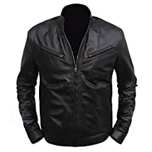 Vin Diesel Fast & Furious 6 Dominic Toretto Black Leather Jacket