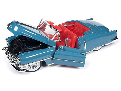 1953 Cadillac Eldorado Convertible Tunis Blue Limited Edition to 1,002 Pieces Worldwide 1/18 Diecast Model Car by Autoworld AW251