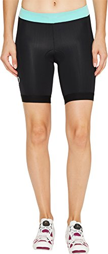 Pearl iZUMi Women's SELECT Pursuit Tri Shorts, Black/Aqua Mint, - Shorts Womens Tri