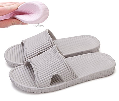 Wooden Slides Sandals (Slip On Slippers Non-slip Shower Sandals House Mule Soft Foams Sole Pool Shoes Bathroom Slide for Men)