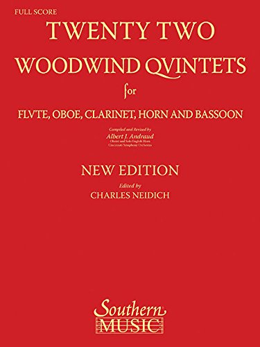 Twenety-Two (22) Woodwind Quintets Score Only New Edition Revised By C. Neidich