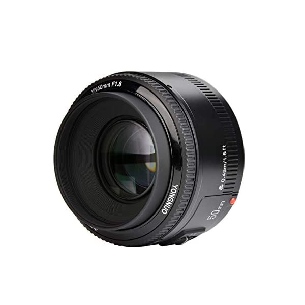 RetinaPix Yongnuo EF YN 50mm F/1.8 1:1.8 Standard Prime Lens for Canon Rebel Digital Camera Works Well with Almost All Canon DSLR Cameras
