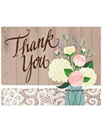 Rustic Wedding Foldover Thank You Cards 8 Per Pack BOBEBE Online Baby Store From New York to Miami and Los Angeles