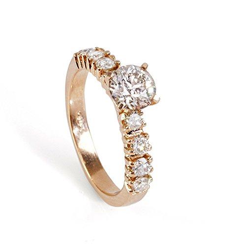 Unique engagement Diamond Ring 0.90 Carats 14K Rose gold Diamond Ring, Engagement Ring, White Gold Ring
