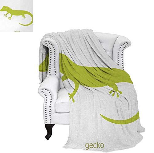 (Digital Printing Blanket Cute Australian Lizard Illustration Smiling Kids Mascot Safari Theme Symbol Summer Quilt Comforter 70