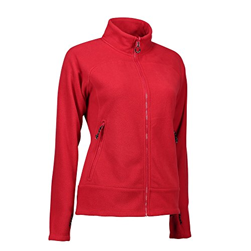 Cremallera Zip Polar Chaqueta N Rojo Para Mujer Id Con Mix qIwA44tF