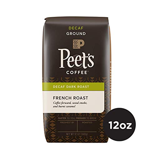 Peet's Coffee Decaf French Roast Dark Roast Ground Coffee, 12 oz Bag Decaffeinated Coffee (Best Us Dating Site)