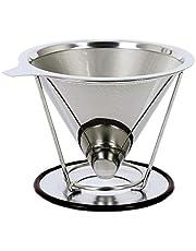 Baomasir Herbruikbaar koffiefilter van roestvrij conisch staal - Uniek filter voor koffie zonder papierresten, nieuwe generatie