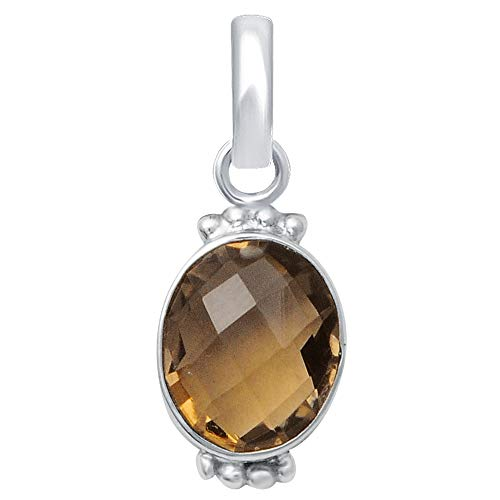 7.00 Ct Brown Oval Cut Smoky Quartz 925 Sterling Silver Wedding Pendant For Women: Nickel Free Beautiful And Simple Anniversary Gift For Her By Orchid Jewelry (Simple.Beautiful.Affordable)
