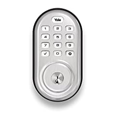 Lose Your Keys. For Good. Unlock and lock your home with ease from the backlit push button keypad. Create unique pin codes for friends and family and remove codes whenever you need to. This Yale Assure Lock features Z-Wave technology and seam...