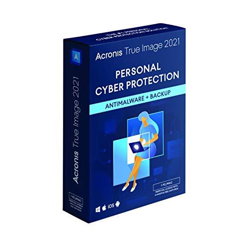 Acronis True Image 2021 | 1 PC/Mac | Eeuwigdurende licentie | Persoonlijke cyberbeveiliging | Geïntegreerde back-up en…