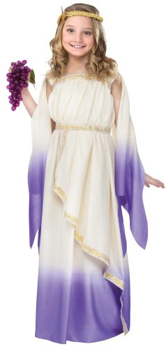 Purple Greek Goddess Costume - Roman Costumes 8-10 years (Roman Girl Costume)