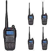RADIOPLUS UV-K8 5W Dual Band Two Way Radio Dual Display Dual Standby Amateur Radio(Pack of 5)