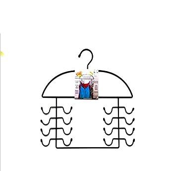 Ruanlei@ Percha múltiple para organizar accesorios/con sistema anti enredo/ahorra espacio/inoxidable para Todo-potente heavy duty gancho de correa antideslizante 39,5X39X0.5CM, negro Ruanlei Hanger
