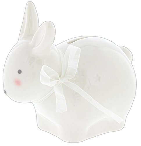 Traditional Piggy Bank - Midwest CBK Cute Ceramic Baby Animal Coin Bank (Rabbit)